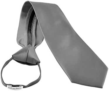 Men's Zipper Tie by Romario Manzini Neckwear Collection - Silver