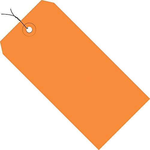 Shipping Orange Tags - Orange Shipping Tags, Wired, 13 Pt, 6 1/4
