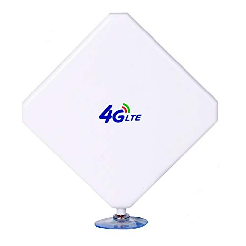 Aigital 4G Antenna TS9 LTE Antenna 35dBi High Gain Long Range Network Antenna with Suction Cup and 2m Extension Cable…