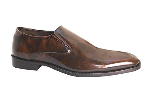 Herrenschuhe Slipper braun Leder rahmengenäht Kalbsleder poliert handmade hochwertiger exclusiver Schuh