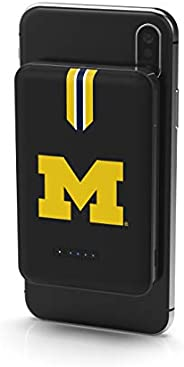 NCAA Michigan Wolverines Wireless Powerbank with 2 USB Ports, Team Color