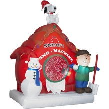 new 6 peanuts snoopy sno machine snow airblown inflatable gemmy