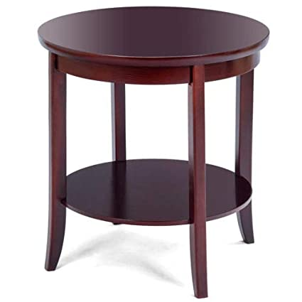 Amazon Com Cypressshop Wood Round End Table Sofa Side Couchside