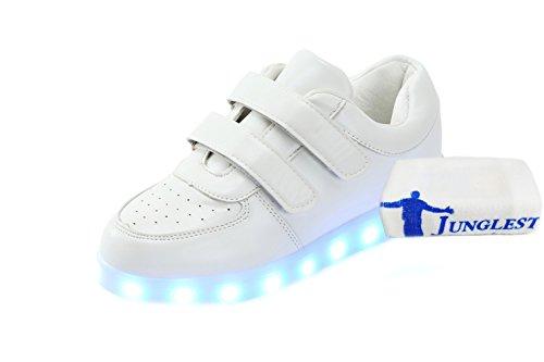 [+Kleines Handtuch]Kinderschuhe USB Lade Licht Jungen emittierende Schuhmädchenschuh leuchtende LED beleuchtete Sportschuhe großer Junge Sc c0