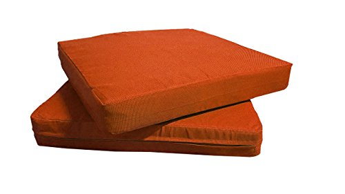 (QQbed Patio Cushion Covers for Outdoor Deep Seat Lounge (24X22, Terra Cotta))