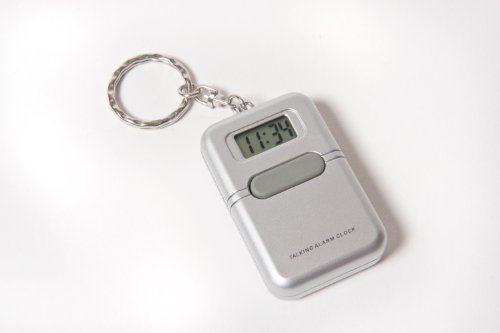 Talking Key Chain Clock with Alarm - English (Clock Alarm Keychain)