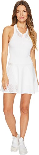 adidas Women's Stella McCartney Barricade Dress White/Grey 4 Medium Adidas Tennis Dress