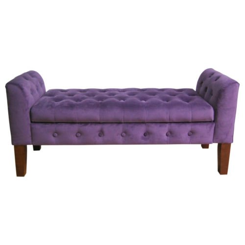 Cheap Tufted Velvet Storage Bench This Contemporary