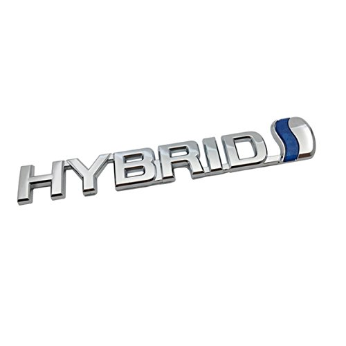 (TK-KLZ 3D Metal HYBRID Logo Car Side Fender Rear Trunk Emblem Badge Decals Sticker for JEEP Dodge Mercedes BMW Mustang Volvo Chevrolet Nissan Audi VW Ford Honda Toyota Jaguar)