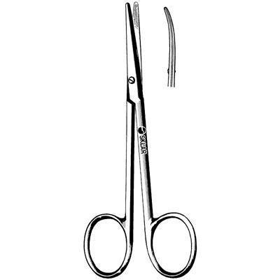 Sklar Instrument 23-1159 Sklarlite Strabismus Scissors, Curved, 4-1/2''