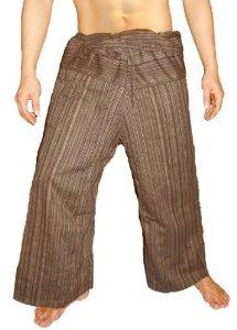 100% Heavy Cotton Thai Fisherman Pants Yoga Pregnancy Pants Striped - - Dragon Cotton Yoga Thai Pants