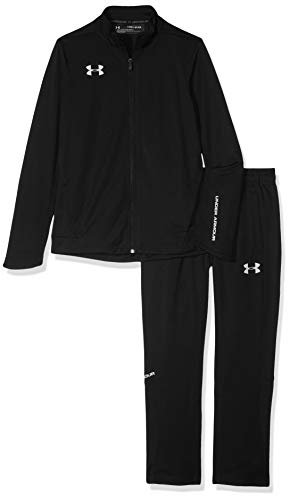 (Under Armour Boys' Challenger Ii Knit Warm-Up, Black (001)/Graphite, Youth Large)