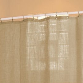 Bean Products Hemp Shower Curtain Size: 70'' x 74'' by Bean Products (Image #3)