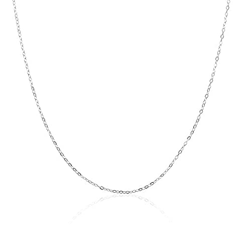 Sterling Silver 925 Cable Chain Necklace In Silver, 14K Gold Plate or Rose Gold Plated (Gold Plate Chain Necklace)