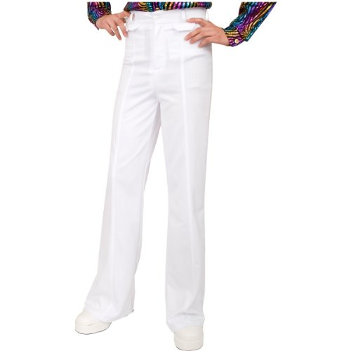 [Charades Men's Disco Pant, White, 32] (Mens Disco Costumes Pants)