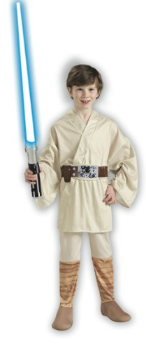 Star Wars Classic Luke Skywalker Child Costume Size: Medium (US sizes 8-10, For 5-7 (Movie Star Fancy Dress Costumes)