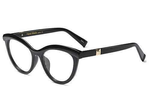 3a257320e Allt Vintage Cat Eye Optical Eyewear Half Tinted Frame Mod Eyeglasses with Clear  Lenses For Women