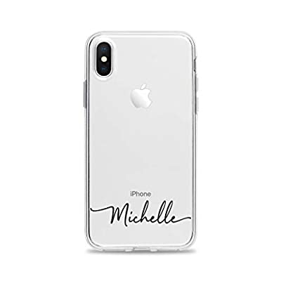 Custom Handwritten Name Clear Phone Case for iPhone X 10 8 Plus 7 6s 6 SE 5s 5 Samsung Galaxy S9 S8 S7 edge S6 Personalized