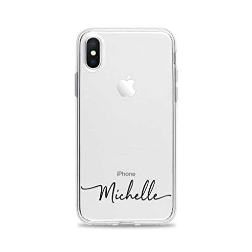 Custom Personalized Name iPhone Case for iPhone 11 Case Monogrammed Flowers Phone Cover A238