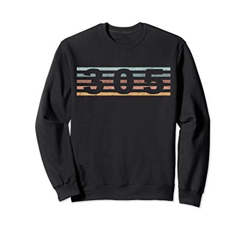 - 305 Area Code Retro Florida Miami Sweatshirt