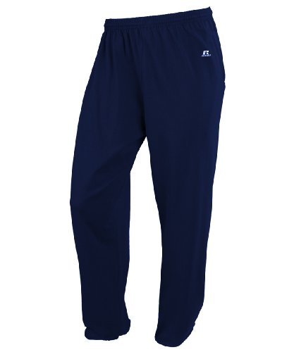 Russell Mens Sweatpants Athletic (Russell Athletic Men's Big-tall Cotton Jersey Pant With Pockets, Navy, LT)
