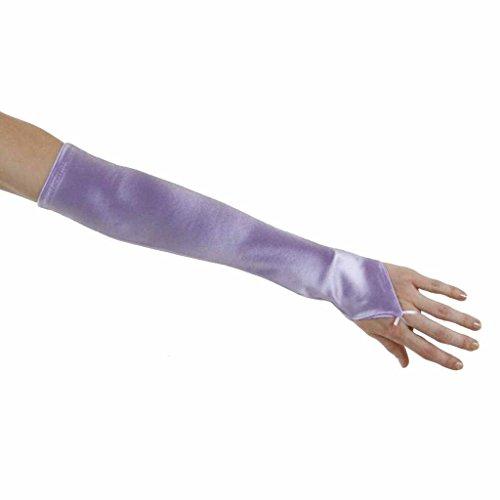 Soft Serenade Elbow Length Fingerless Gloves, Lavender