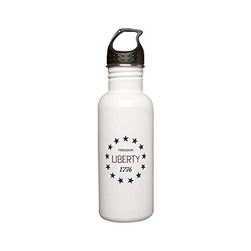 Stainless Water Bottle 0.6L 1776 Freedom Liberty Stars by Truly Teague