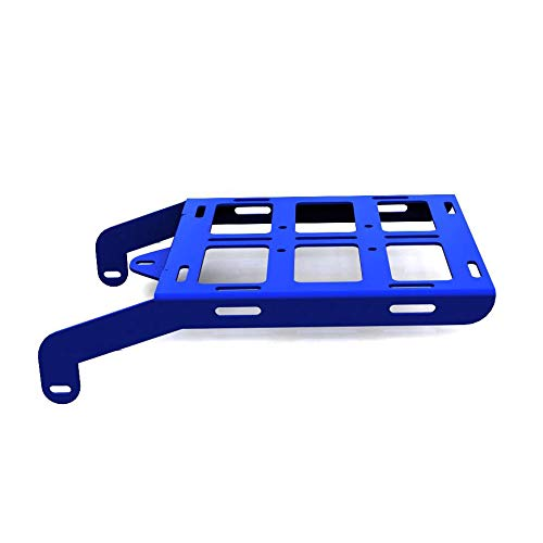 Cargo Rack Luggage Carrier Utility Rear Tail Holder Blue Powdercoat fits: 93-16 Honda XR650L - Immix Racing - 100-001-blue