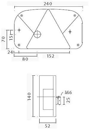 /Set di luci/ Lampada Asp/öck Multipoint 2/ /destra e sinistra 7/poli