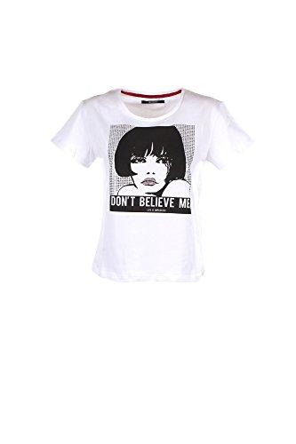2a6d2c03ff71c8 Estate 2018 Iw18s63tg Bianco T-shirt Primavera Imperfect Donna clamm ...