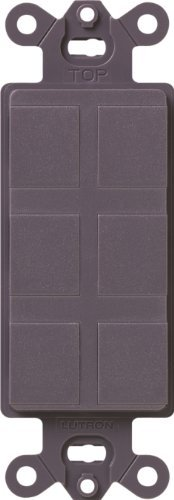 Lutron SC-6PF-PL Satin Colors 6-Port Frame, Plum by Lutron