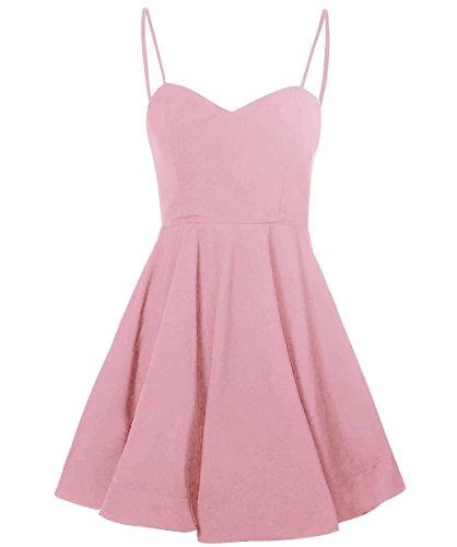 Straps Homecoming Pleats Blush Spaghetti Satin with Dress AiniDress Prom Line A Short Dresses Simple pPn8xZ8