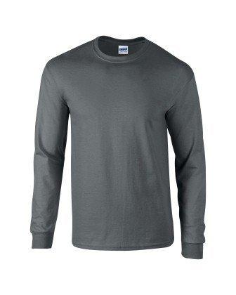 sleeve Uomo Gildan Ultra L Grau Tee Cotton T Gris shirt CCAt4q