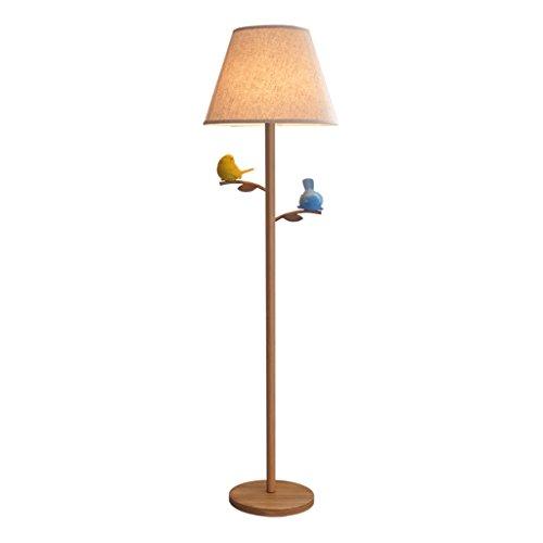 ETERN Imitation Wood Light Nordic Modern Floor Lamp, Iron Cl