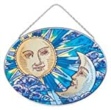 Joan Baker Designs MO138 Celestial Art Glass Suncatcher, 7 by 5-1/4-Inch