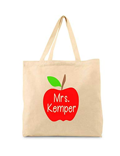 Susie85Electra Teacher Tote Bag Teacher Book Bag Teacher Apple Personalized Teacher Gift