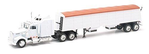 (Kenworth Longhauler 18 Wheeler White Semi Truck)