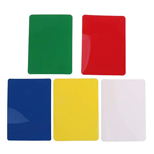 Sala-Fnt - 10 Pieces Poker Size Cut Cards for Poker Blackjack Casino Game Props Pub Club Camping Travell Table Game Supply Gift Collection