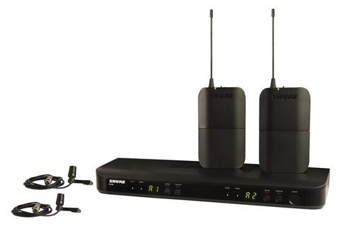 Shure BLX188/CVL Dual Channel Lavalier Wireless System with 2 CVL Lavalier Microphones, H10 from Shure