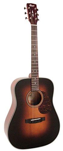 Cort EARTH300VSB Dreadnought Acoustic Guitar Solid Adirondack Spruce Top, (Adirondack Dreadnought Acoustic Guitar)