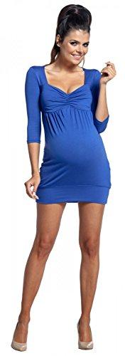 Zeta Ville - Premamá vestido mini túnica - cintura imperio - para mujer - 957c Azul Real
