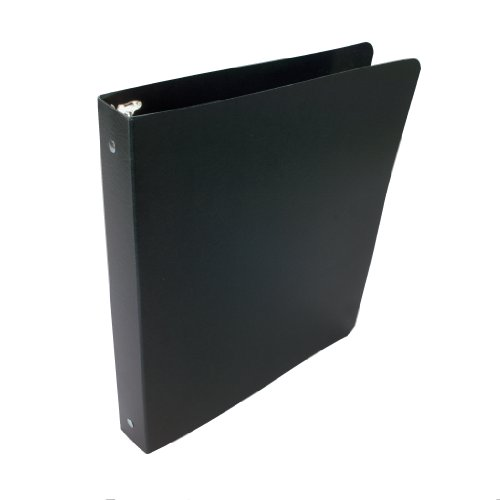 ACCO Presstex 1 Inch Ring Binder, 8.5 x 11 Inch Sheet Size, Black (A7038611-C)