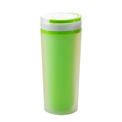 Ieasycan Portable Plastic Cup Women Double Frosted Thermos Mug Travelling Tea Bottle Cute gift For Girl And Kids
