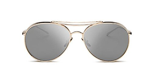 vintage métallique cercle de en lunettes style polarisées inspirées du Feuille rond Mercure B Lennon soleil retro de nPHqWWC0