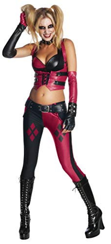 Secret Wishes Batman Arkham City  Adult Harley Quinn Costume, Multi-Colored, Small -