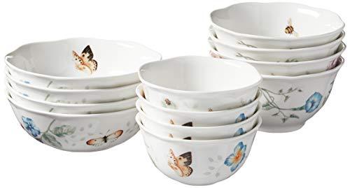 Lenox Butterfly Meadow 12-Piece Bowl Set, Multicolor