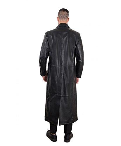 2299 Cappotto In D'arienzo Pelle Matrix Nero Lungo Nera 4Hpxdq