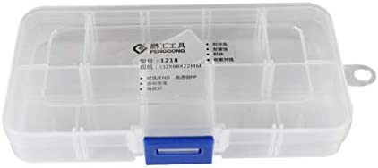 OKAYOU 透明なツールボックス1218プラスチックツールボックス電子部品ネジストレージボックス電子プラスチック部品ツールボックス