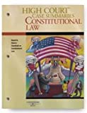 High Court Case Summaries on Constitutional Law, Keyed to Stone, 7th, Publishers Editorial Staff, 162810001X