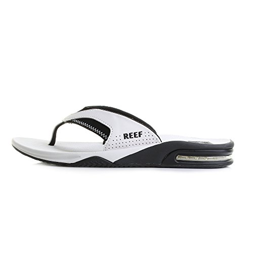 Fanning Mens Mens Reef Reef White Black Sandal 0awBZxa